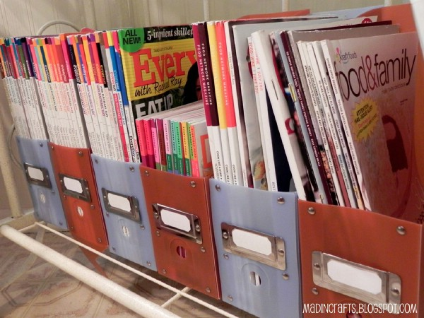 Great Cooking Magazine Organization System - 150 Dollar Store Organizing Ideas and Projects for the Entire Home