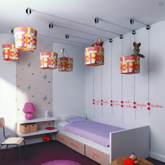 Ceiling Storage - 5 Easy Storage and Organization Solutions for Any Kid's Bedroom