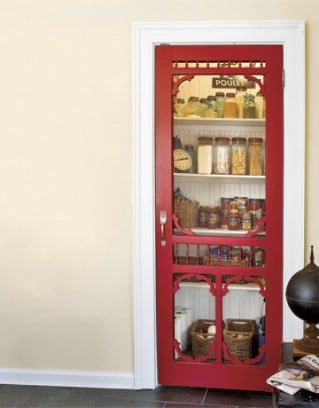 Kitchen Pantry with a Screen Door - 60+ Innovative Kitchen Organization and Storage DIY Projects