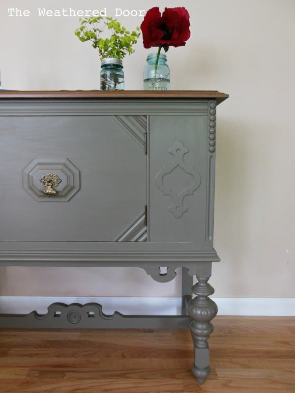 Small Antique Buffet - Top 60 Furniture Makeover DIY Projects and Negotiation Secrets