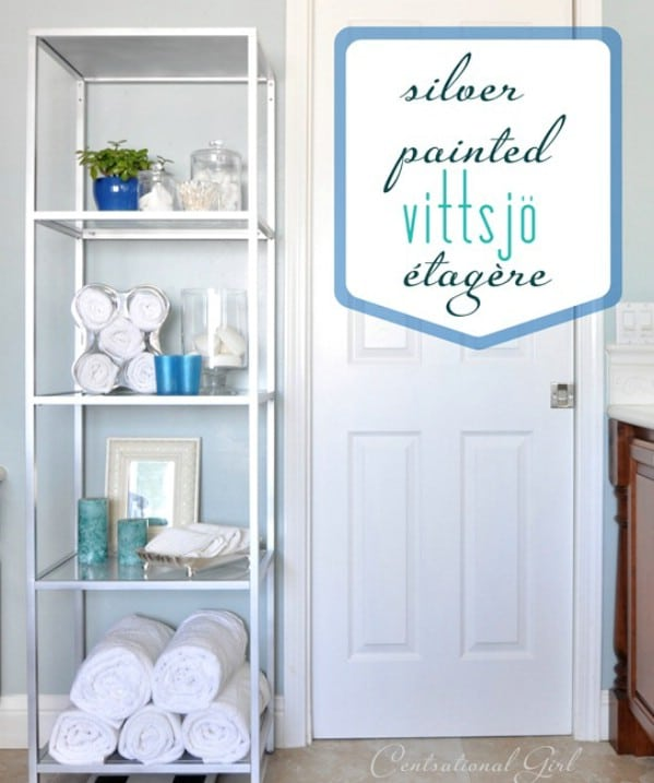 DIY Bathroom Étagère - Top 60 Furniture Makeover DIY Projects and Negotiation Secrets