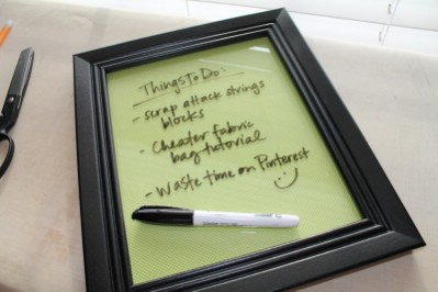 Dry Erase Board for Family Organization