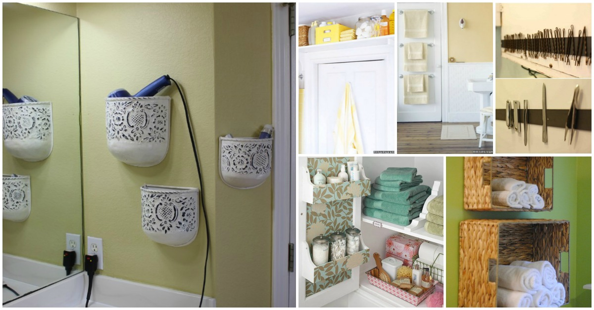 30 Brilliant Bathroom Organization And Storage Diy Solutions Crafts