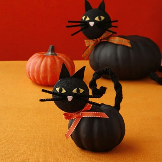 Cat Pumpkins - 40 Easy to Make DIY Halloween Decor Ideas