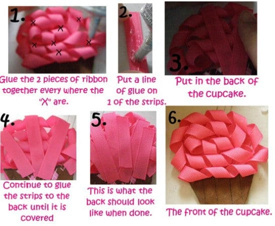 Cupcake Bow - 30 Fabulous and Easy to Make DIY Hair Bows