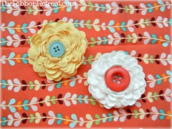 Ric Rac Flower Bow - 30 Fabulous and Easy to Make DIY Hair Bows