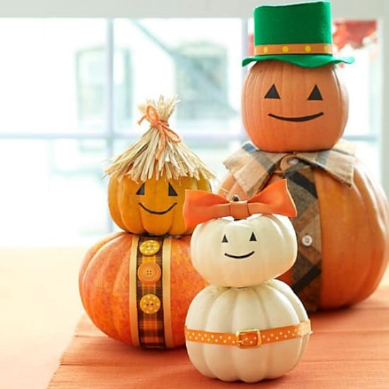 Pumpkin Family - 40 Easy to Make DIY Halloween Decor Ideas