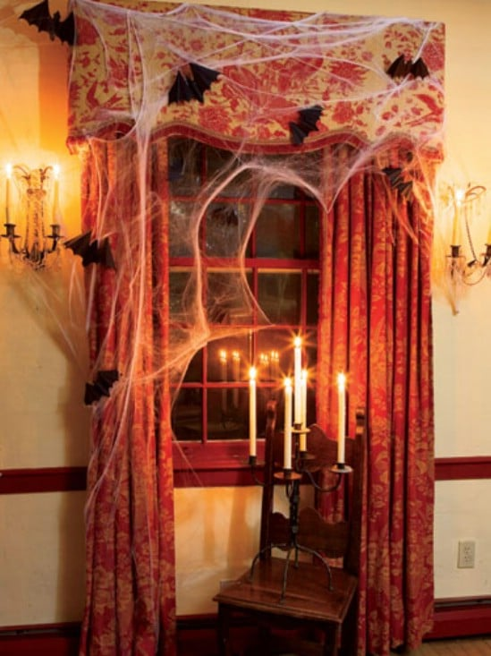 Eerie Window - 40 Easy to Make DIY Halloween Decor Ideas