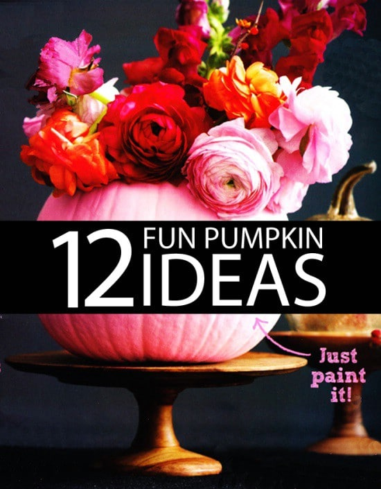 Painted Mini-Pumpkins - 40 Easy to Make DIY Halloween Decor Ideas