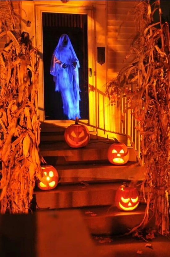 Spooky Door Greeter - 40 Easy to Make DIY Halloween Decor Ideas