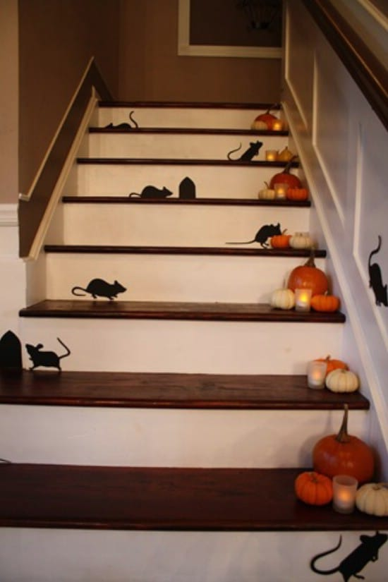 Stair Decorations - 40 Easy to Make DIY Halloween Decor Ideas