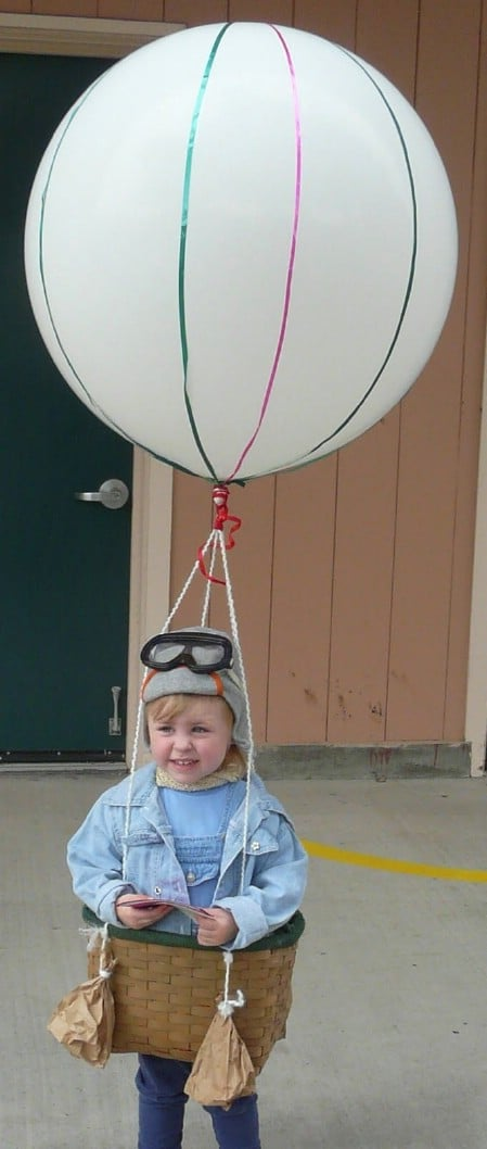 Hot Air Balloon - 60 Fun and Easy DIY Halloween Costumes Your Kids Will Love