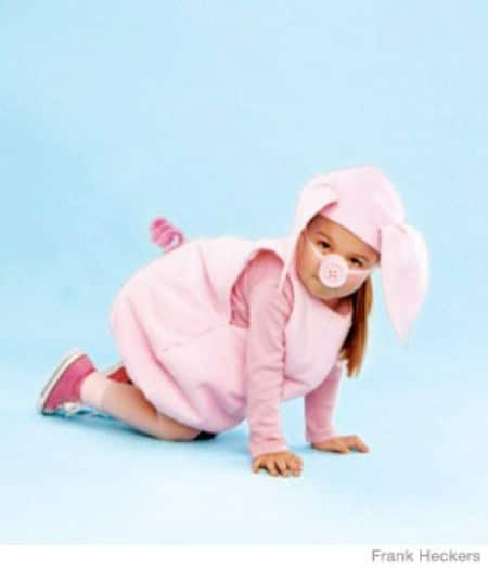 Little Piggy - 60 Fun and Easy DIY Halloween Costumes Your Kids Will Love