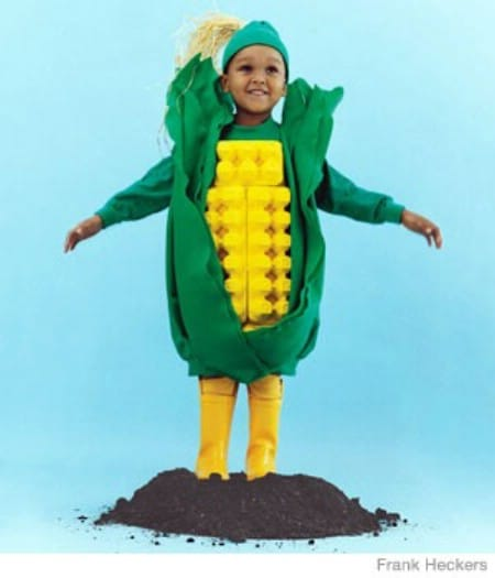 Corn on the Cob - 60 Fun and Easy DIY Halloween Costumes Your Kids Will Love