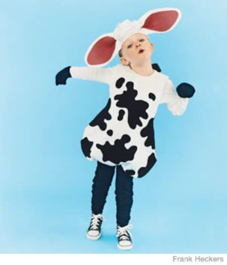 Cow - 60 Fun and Easy DIY Halloween Costumes Your Kids Will Love