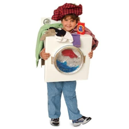 Washing Machine - 60 Fun and Easy DIY Halloween Costumes Your Kids Will Love