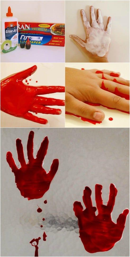 Bloody Handprint Window Clings