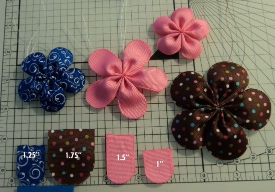 Five Petal Flower Bow - 30 Fabulous and Easy to Make DIY Hair Bows