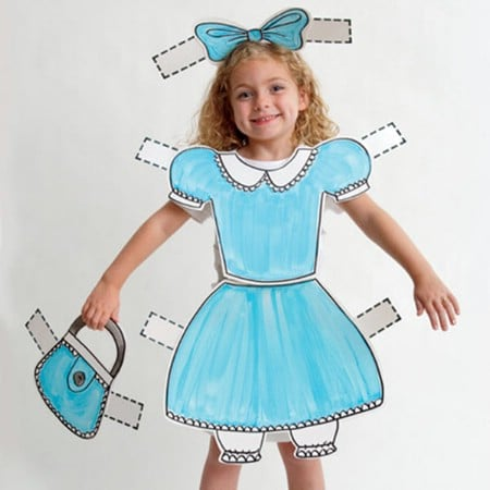 Paper Doll - 60 Fun and Easy DIY Halloween Costumes Your Kids Will Love