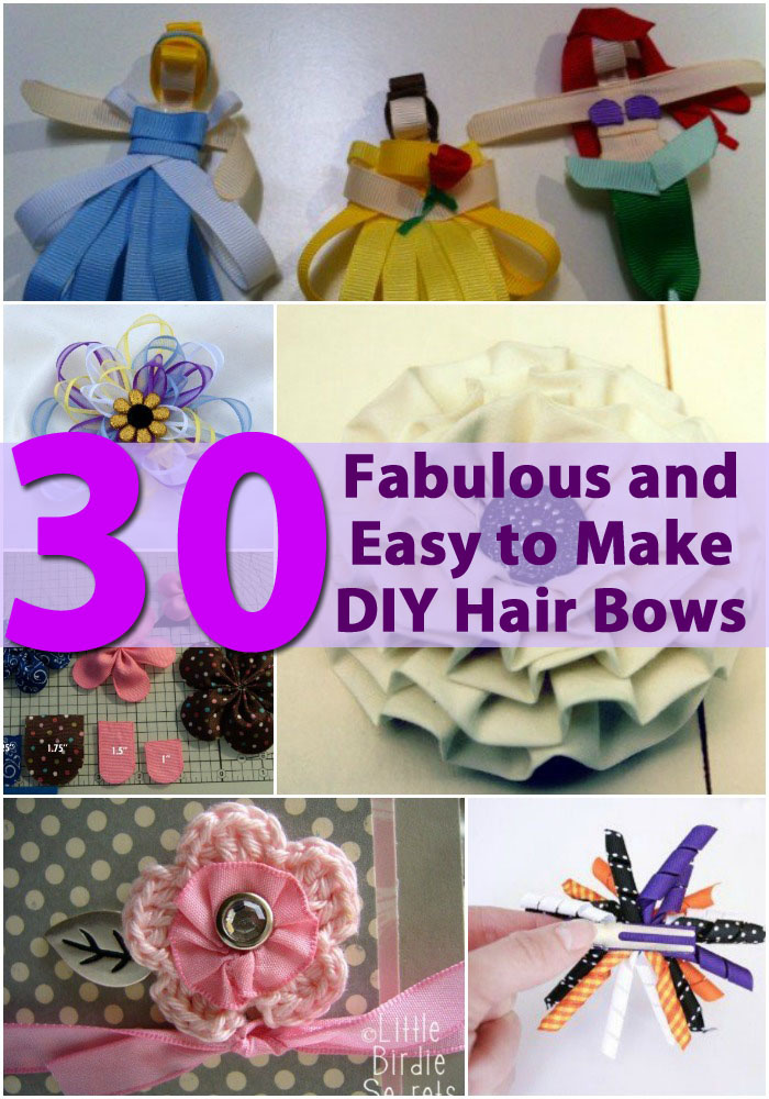 30 Fabulous and Easy to Make DIY Hair Bows