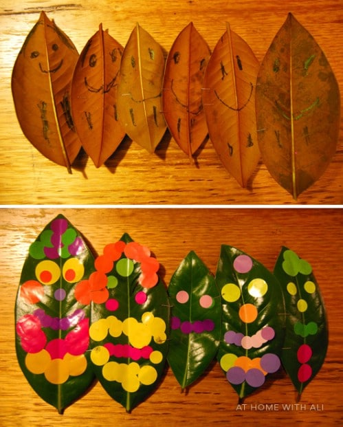 Leaf People - 15 Fabulous Fall Leaf Crafts for Kids