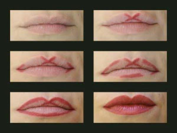 Get a Cupid's Bow Shape with Lip Liner - 40 DIY Beauty Hacks That Are Borderline Genius