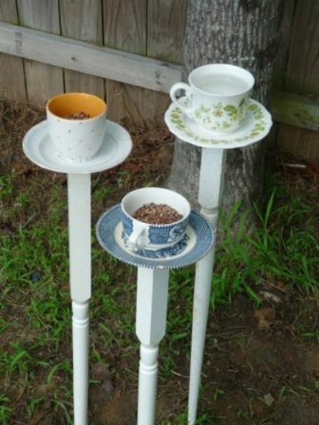 Teacup Towers - 23 DIY Birdfeeders That Will Fill Your Garden With Birds