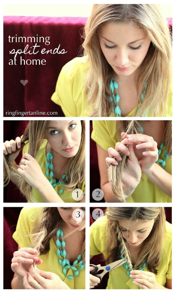 Easy Method for Getting Rid of Split Ends - 40 DIY Beauty Hacks That Are Borderline Genius