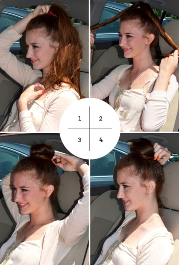 Get a Polished Top Knot in Minutes - 40 DIY Beauty Hacks That Are Borderline Genius