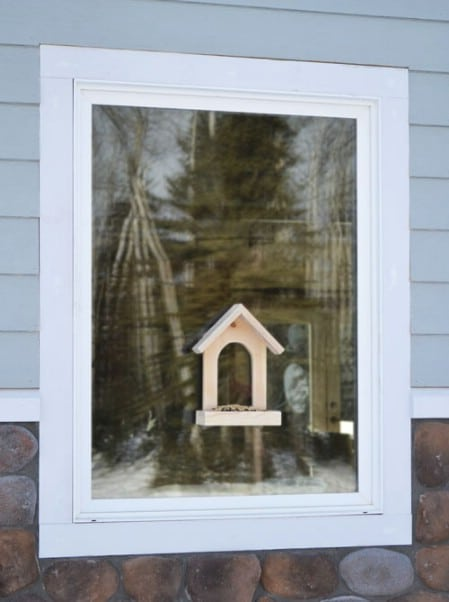 Window Birdfeeder - 23 DIY Birdfeeders That Will Fill Your Garden With Birds