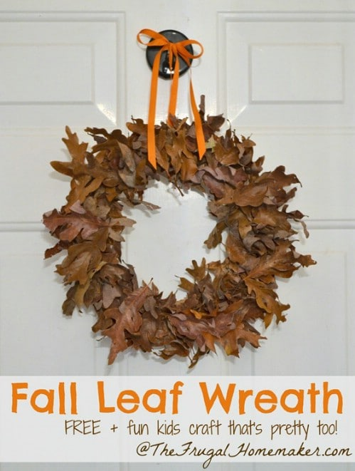 Autumn Wreath - 15 Fabulous Fall Leaf Crafts for Kids