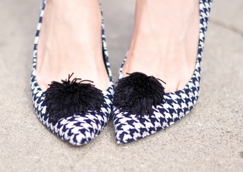 Houndstooth Pumps - 30 Extremely Creative No-Sew DIY Projects