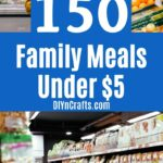 Family meals under $5 collage