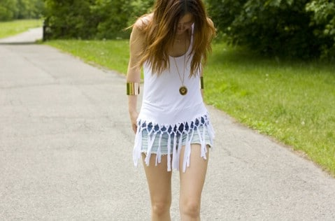 Fringe Net Tank Top - 30 Extremely Creative No-Sew DIY Projects