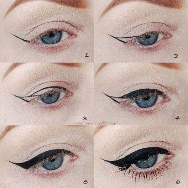 Learn How to Create a Winged Look with Eye Makeup - 40 DIY Beauty Hacks That Are Borderline Genius