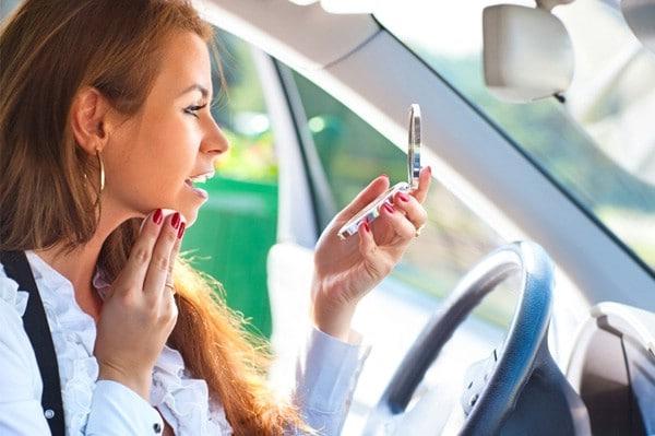 Check Makeup in the Car - 40 DIY Beauty Hacks That Are Borderline Genius