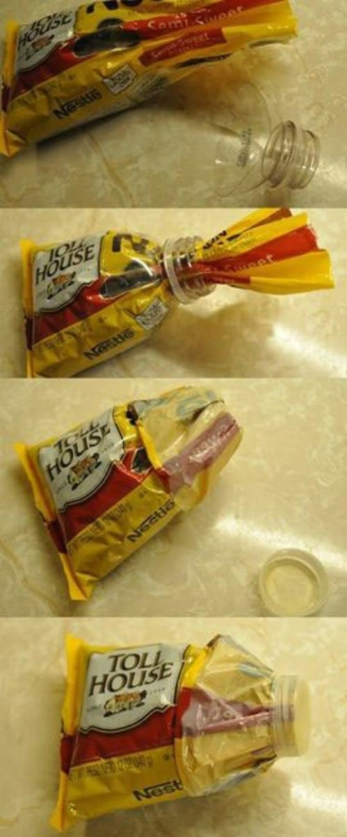 Use Plastic Bottles for Storage - 40 DIY Tricks To Make Your Groceries Last As Long As Possible