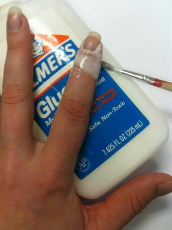 Elmer's Glue for the Perfect Manicure - 40 DIY Beauty Hacks That Are Borderline Genius