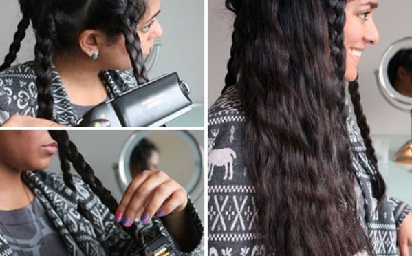 Make Waves Last Longer with Flat-Ironed Braids - 40 DIY Beauty Hacks That Are Borderline Genius