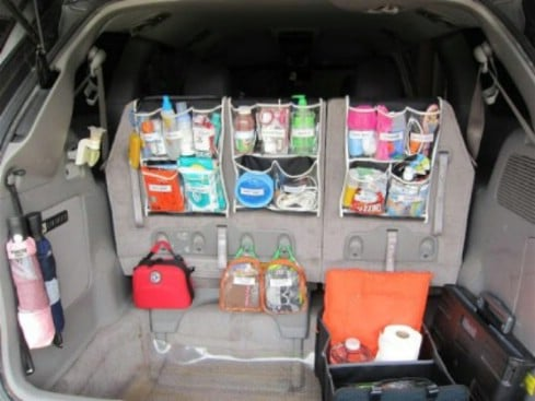 Use Shower Caddies - 20 Easy DIY Ideas and Tips for a Perfectly Organized Car