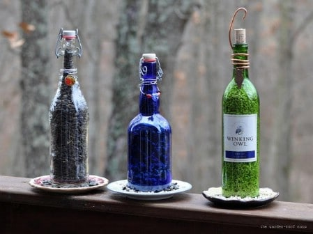Wine Bottle Birdfeeders - 23 DIY Birdfeeders That Will Fill Your Garden With Birds