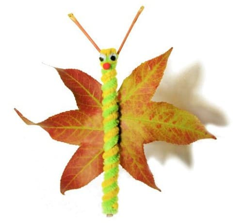 Leaf Butterflies - 15 Fabulous Fall Leaf Crafts for Kids