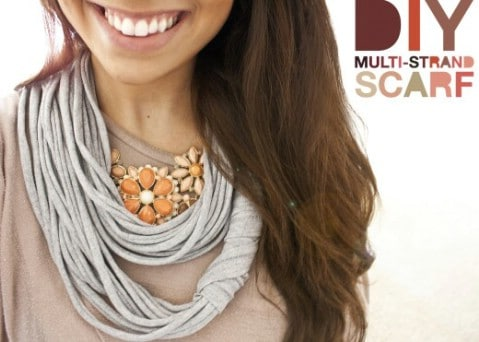Multi-Strand Scarf - 30 Extremely Creative No-Sew DIY Projects