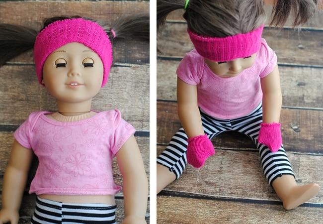 American girl with pink headband