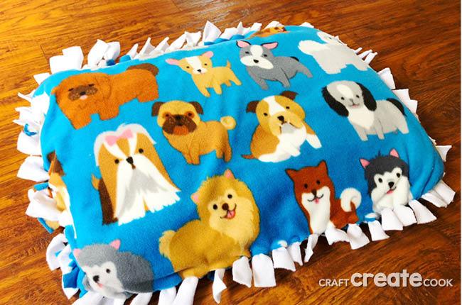 Dog pattern pillow