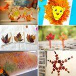 Fall leaf crafts collage