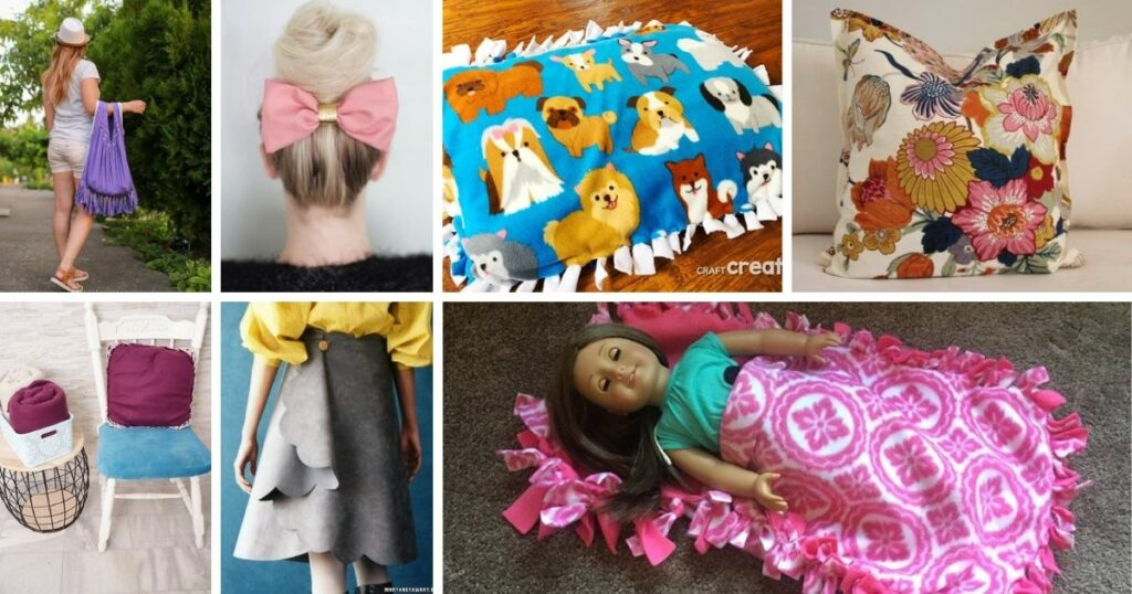 No sew projects collage