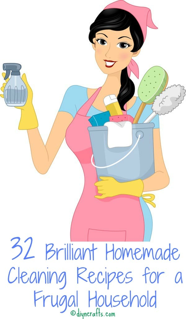 32 Brilliant Homemade Cleaning Recipes for a Frugal Household