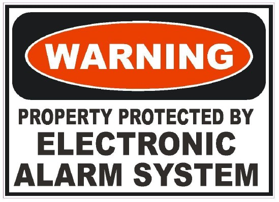 Use Alarm System Decals – Even If You Don't Have An Alarm - 20 Easy and Effective DIY Tricks to Keep Your Home Safe