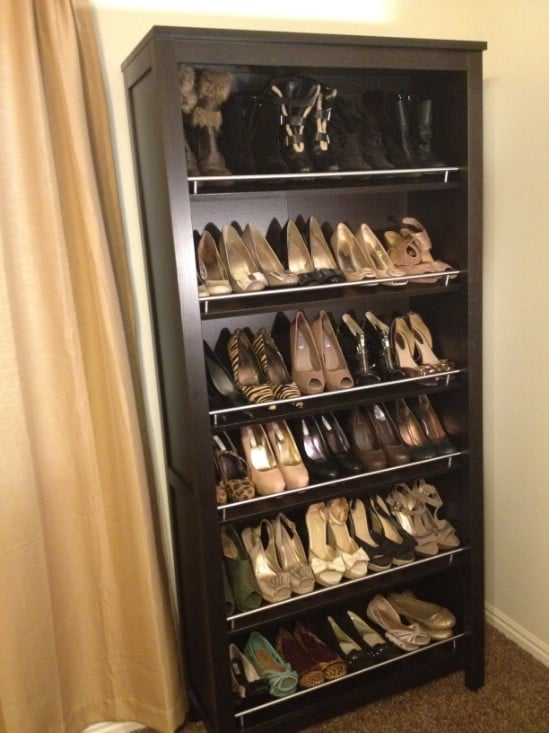 Ikea Bookcase Turned Shoe Organizer